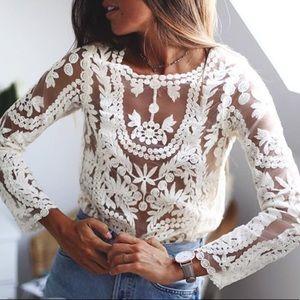 Crochet Mesh Blouse